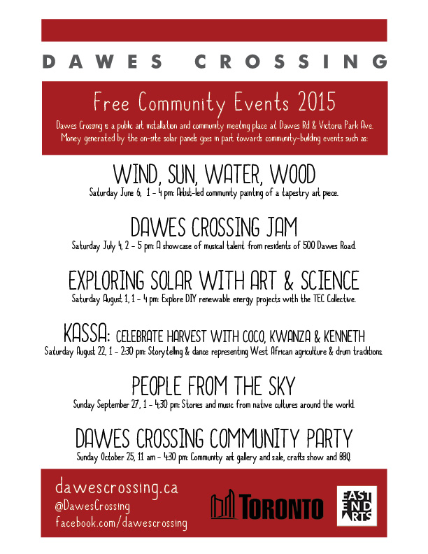 Dawes Crossing Community Events Series 2015