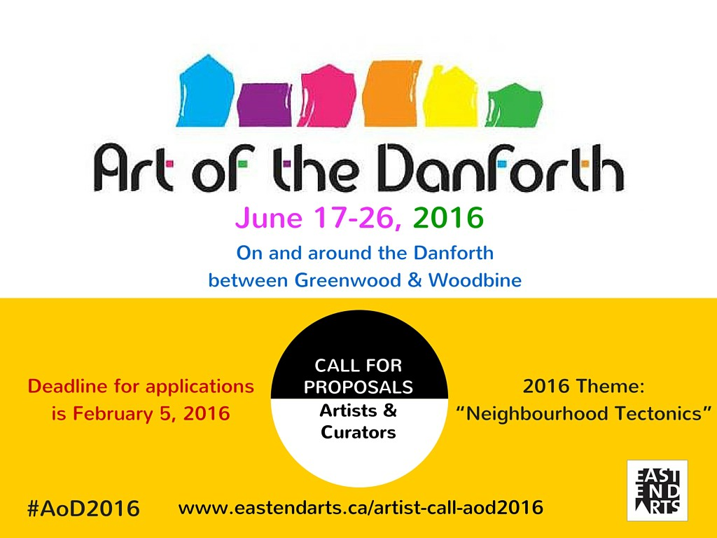 Art of the Danforth 2016 Call_Deadline Feb 5