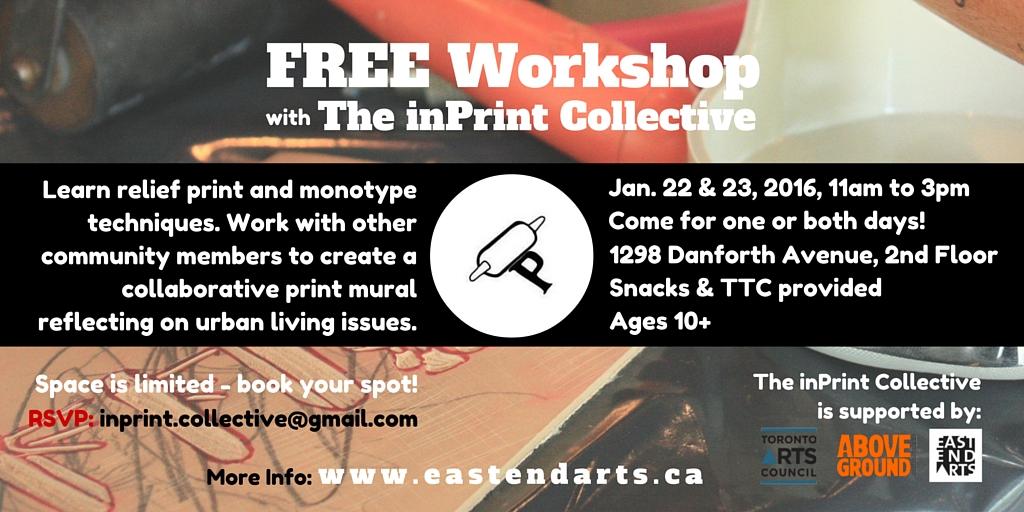 inPrint Workshops Jan 22 and 23 2016