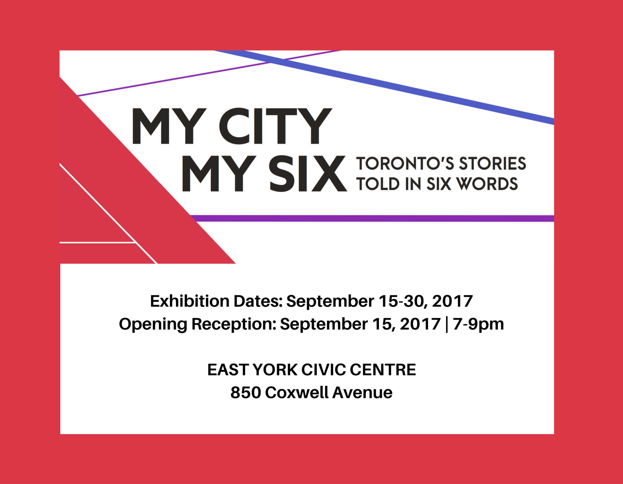 My City My Six Exhibition