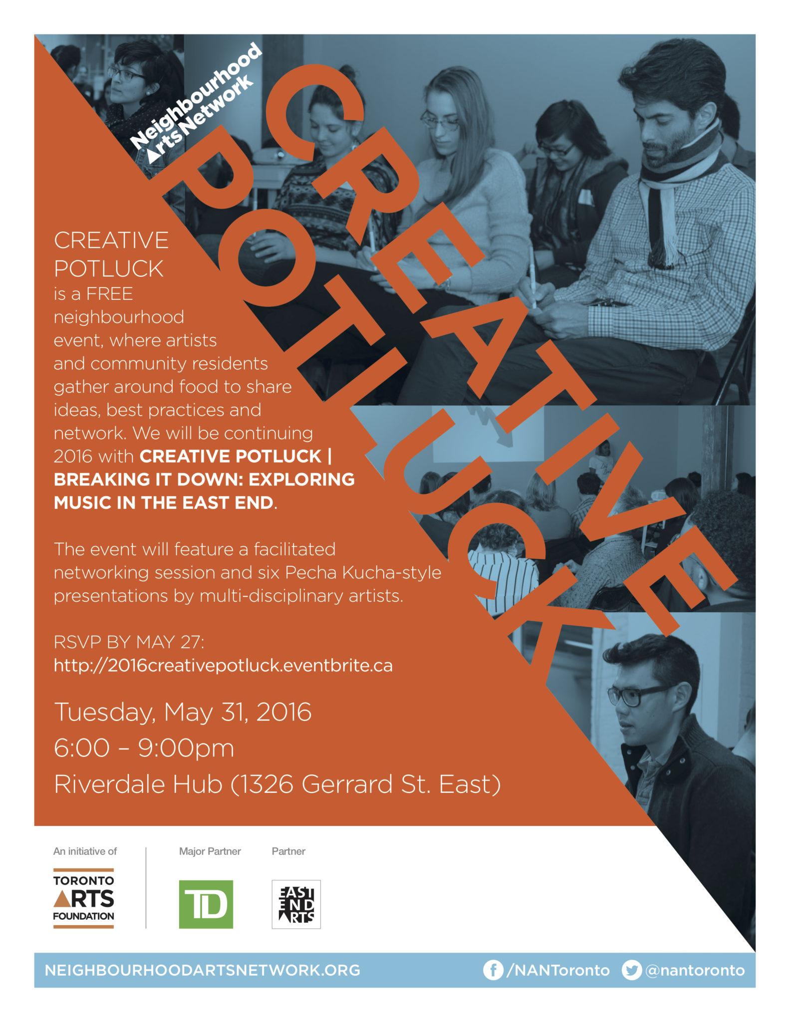 Creative Potluck - Music May 31
