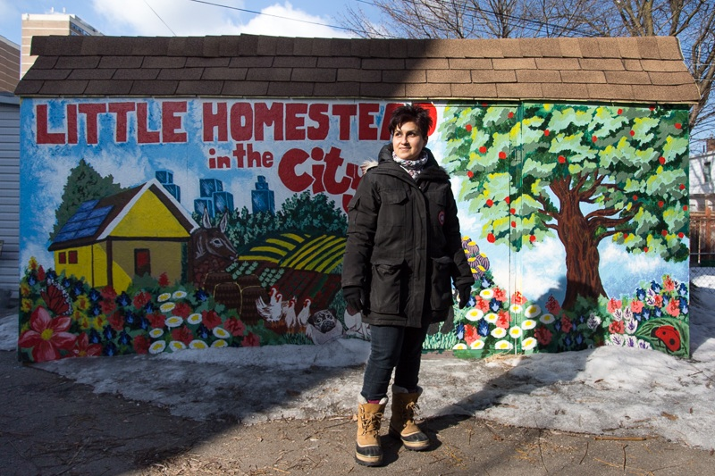 Laneway Cleanup, Seeding and Mural Creation