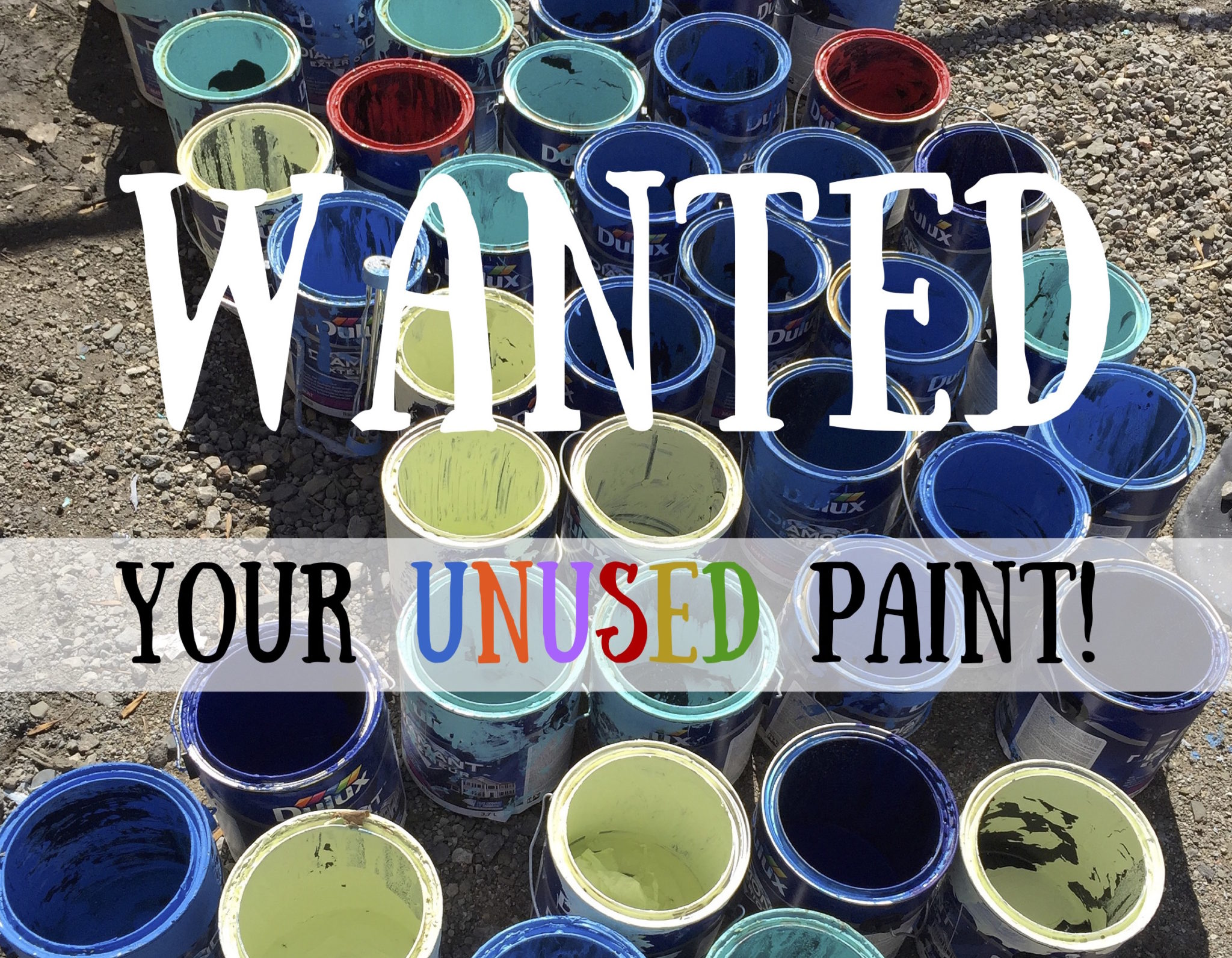 Wanted: Your Unused Paint!