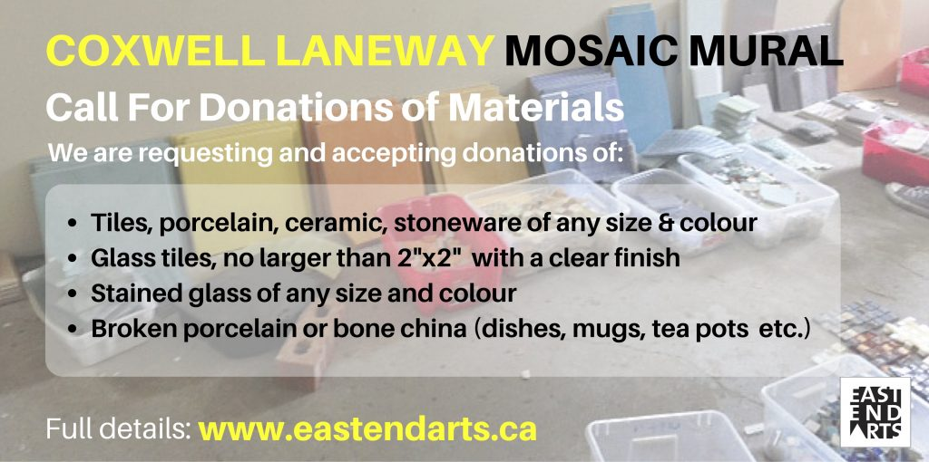 Mosaic Mural Call For Materials