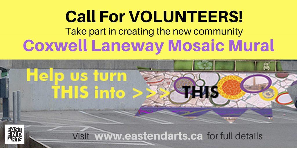 Mosaic Mural Call For Volunteers