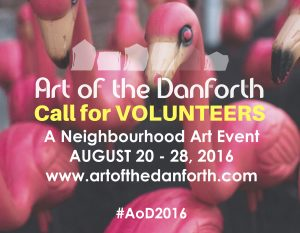 Art of the Danforth Volunteer call_feature
