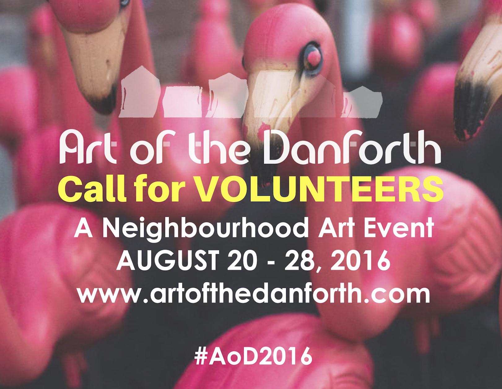 Volunteer For Art Of The Danforth