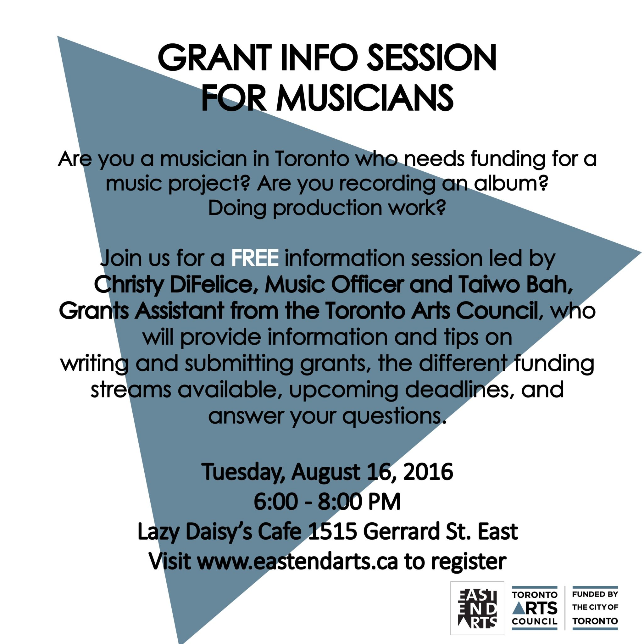 Grant Info Session for Musicians