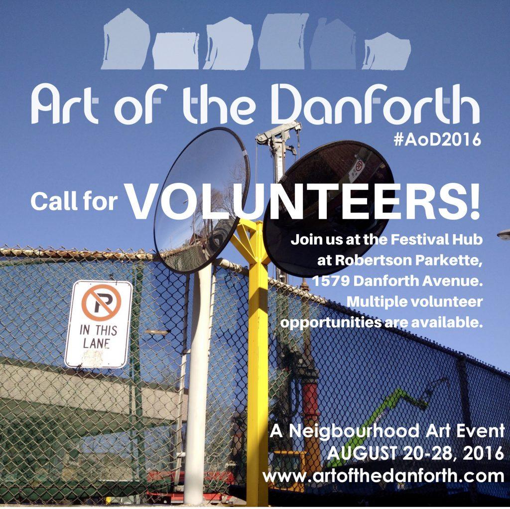 Volunteer with Art of the Danforth 2016