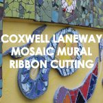 Coxwell Laneway Mosaic Mural Ribbon Cutting