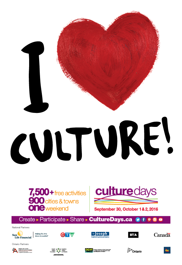 Ontario Culture Days 2016 poster