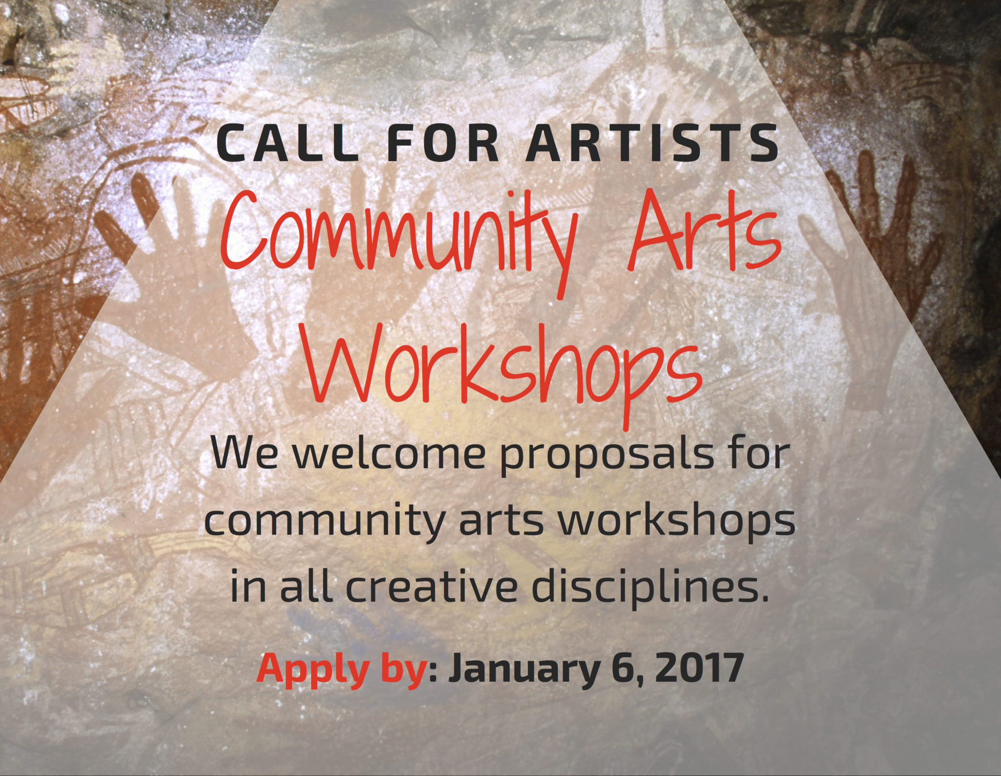 Call For Artists: Community Arts Workshops