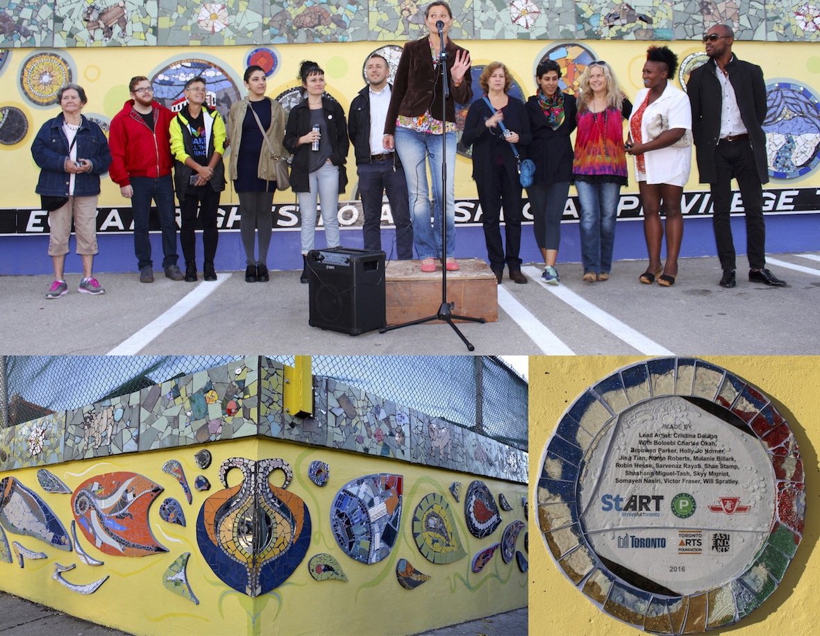 Coxwell Laneway Mosaic Mural: Celebrating The Artists