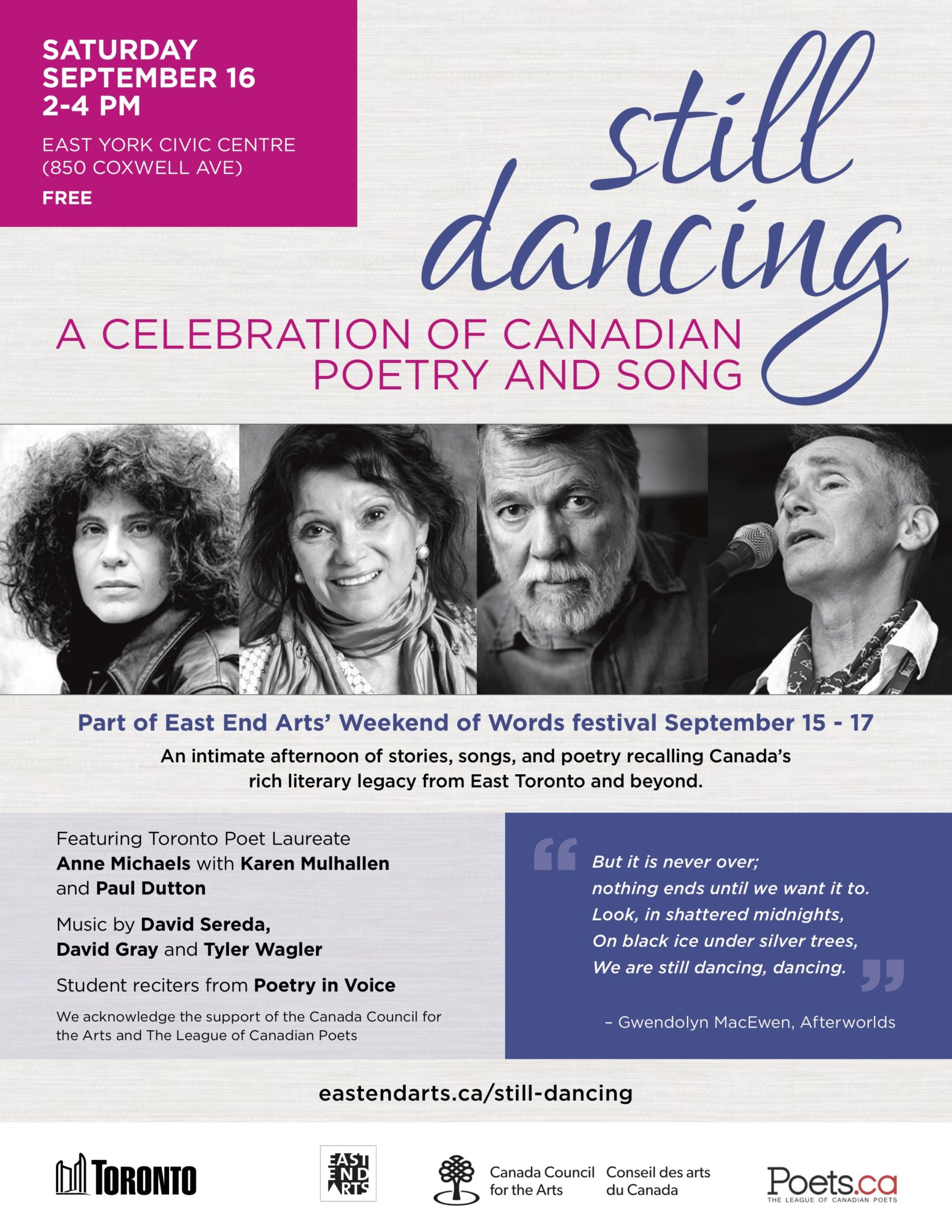 still dancing: a celebration of Canadian poetry and song