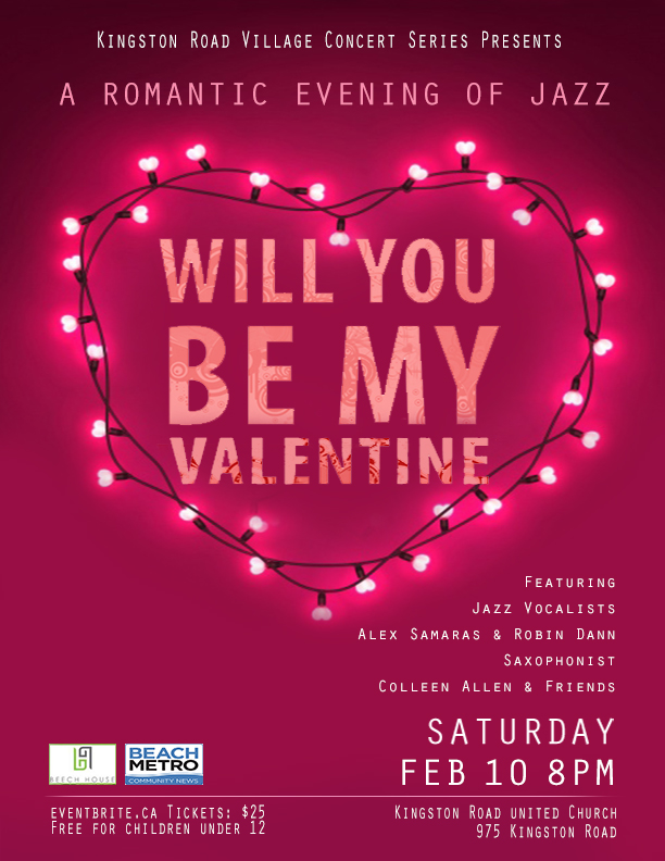 Will You Be My Valentine (Kingston Road Village Concert Series)