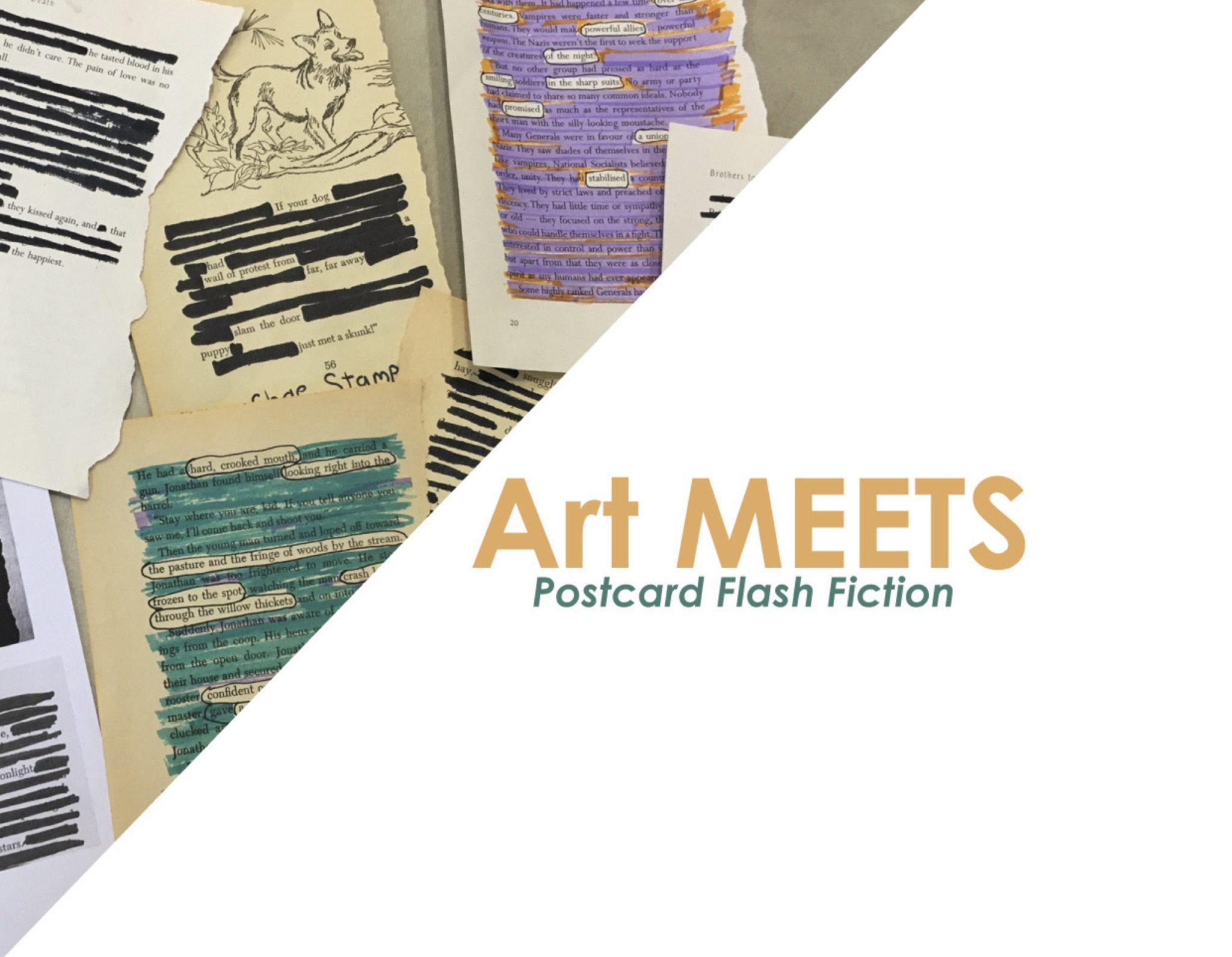 Art MEETS: Postcard Flash Fiction
