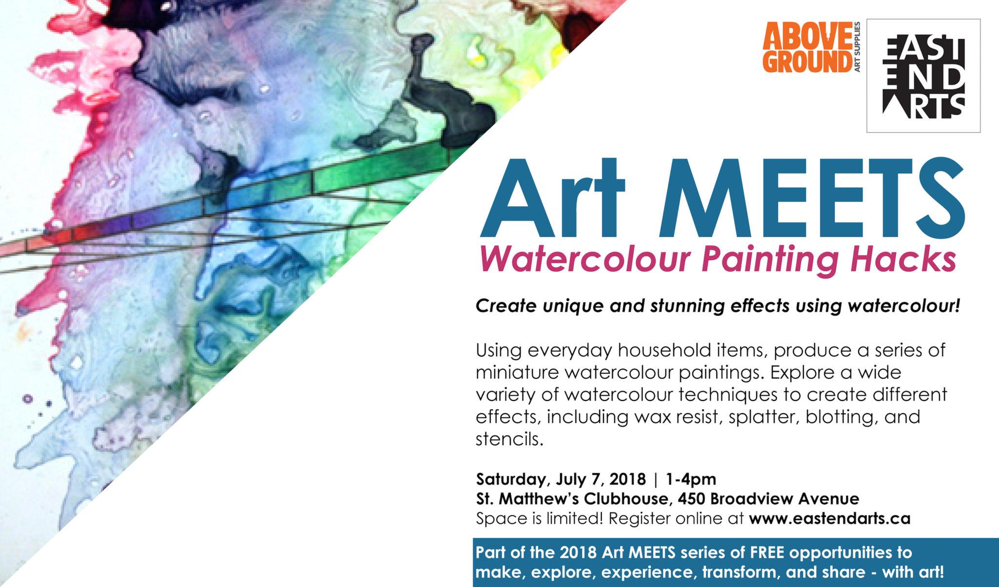 Art MEETS Watercolour Painting Hacks East End Arts EAST END ARTS - Painting hacks