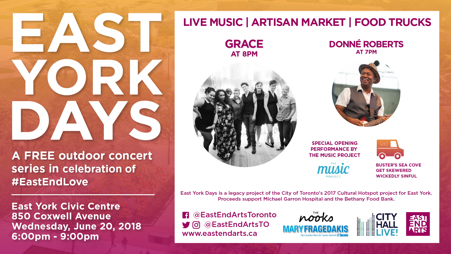 East York Days – Free Concert Series - East End Arts