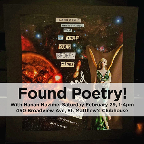 Winter ArtMEETS: Found Poetry