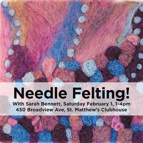 Winter ArtMEETS: Needle Felting