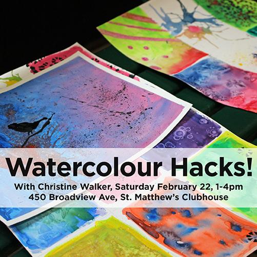 Winter ArtMEETS: Watercolour Hacks